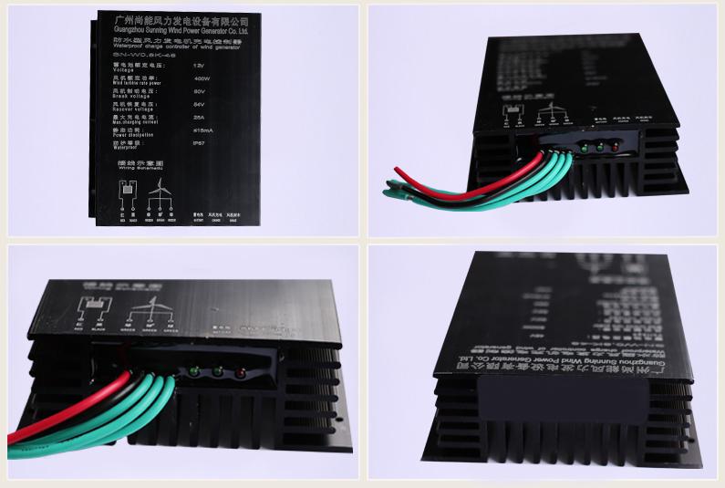 一、纯风能控制器使用安装说明 1.确认风力发电机输出电压与蓄电池的额定电压值一致。 2.按以下顺序接线,先接蓄电池的正负极,再接风机的三相电压输出。 3.请仔细按照说明要求将蓄电池和风力发电机接在控制器上,接反极性或接错位置会导致系统工作不正常,甚至会导致系统部件的损坏。 二、纯风能控制器接线方式: 1.
