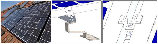 光伏支架具有多种分类方式,如按照连接方式分为焊接式和组装式,按照安装结构分为固定式和逐日式,按照安装地点分为地面式和屋面式等。无论哪种光伏系统,其支架构成大体相似,都包括连接件、立柱、龙骨、横梁、辅助件等部分。 1.1固定式光伏支架 固定式光伏支架,顾名思义,是指安装之后方位、角度等保持不变的支架系统。固定安装方式直接将太阳能光伏组件朝向低纬度地区放置(与地面成一定的角度),以串并联的方式组成太阳能光伏阵列,从而达到太阳能光伏发电的目的。其固定方式有多种,如地面固定方式就有桩基法(直接埋入法)、混凝土块配